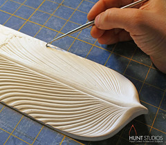 """Icarus"" in progress (huntstonecarving) Tags: tile stonecarving stonetile tiledesign handcarvedtile 3dtile sculpturaltile"