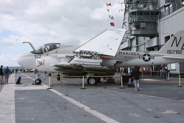 Aircraft Carrier USS Midway CV-41 - All Weather Medium Attack Aircraft - 512 Grumman A-6 Intruder - San Diego California