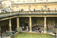 Bathwater (Andrew T's Archives) Tags: uk trip england bath 2006 minoltax370 romanbaths
