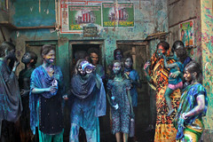 holi (auniket prantor) Tags: old family portrait people color smile face smiling festival yard asian community colorful asia all child faces indian south group young indoor powder celebration colored dhaka festivity tradition hindu holi utsav tample ages bangladesh celebrated dol