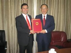 Lui Peng Presidente del Comité Olimpico de China