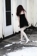 (Carley Merriman) Tags: door winter house cold girl dress blackdress