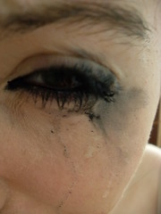 Let It Flow. (Hanna-) Tags: portrait eyes tears eyelashes crying mascara emotions eyeliner