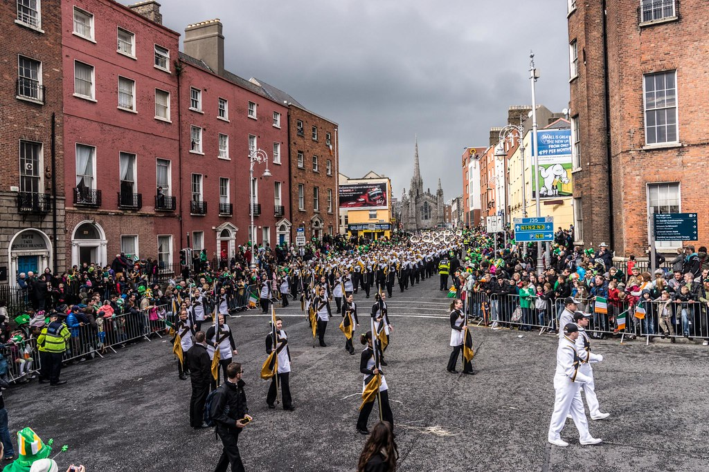 """Marching Mizzou, also known as the """"Big 'M' of the Midwest - St. Patrick's Day 2012"""