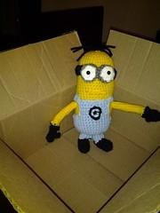 minion! (malkyra) Tags: crochet crochetdolls despicableme despicablememinion crochetminion
