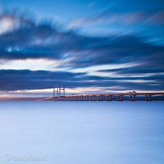 Golden Bridge (images through a lens) Tags: longexposure sunset coastal severnbeach secondseverncrossing severnestuary