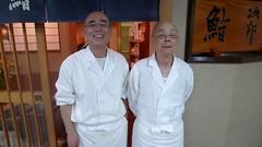 Yoshikazu & Jiro Ono (ampontour) Tags: japan tokyo ginza 169 michelin  sukiyabashijiro jirodreamsofsushi jiroono