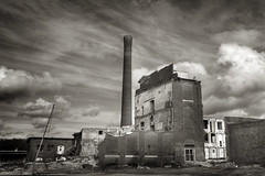 Flint River Cotton Mill (steve_rob) Tags: blackandwhite georgia d300 tamron1750