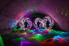 The Three Me's! (Ellieslion) Tags: longexposure lightpainting culvert dlw canon7d ellieslion