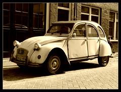 2CV (Judy **) Tags: auto car sepia 2cv eend 2012 112pictures msh0312 msh03128