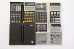HP clamshell rarities (keith midson) Tags: hp calculator hewlettpackard clamshell 18c 100thanniversary 28s 19bii