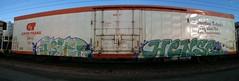 Matt (+PR+) Tags: railroad streetart chicago graffiti trains spraypaint msk asher railfan freight boxcars railcars hense rollingstock rxr benching