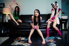 Gamer Girl Lily (ranmachen) Tags: pink toronto canada cute girl asian panda lily cosplay gamer controller ps3 1635mmf28lii canoneos5dmarkii