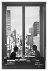 No Number | Dinner for Two (Nicola Bernardi) Tags: windows two people white black scale station japan dinner lens japanese sapporo nikon couple hokkaido nicola gray 85mm symmetry chopsticks fixed nikkor 18 giappone eki d300 daimaru bernardi