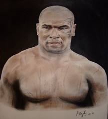 Boxing Champion and actor Mike Tyson (fitzjim) Tags: 2 portrait man sports make pecs muscles closeup tattoo movie championship belt intense artist fighter arms wrestling pigeons chest famous bald rollerderby hangover ring prison american knockout mao boxer bite africanamerican movies guns wrestler punch athlete retired tough edhelms arrested cheguevara bombers ceasarspalace chairmanmao fieldofdreams workingout worldchampion miketyson evanderholyfield heathergraham boxinggloves bradleycooper realityshow arthurashe swetting jeffreytambor zachgalifianakis boxingtrunks autographappearance jimfitzpatrick bicepts justinbartha lasvegasr shulder revolutionaryleader daysofgrace undisputedchampion malikabdulaziz mancavememorabilia trainercusdamato lakihaspicer wwehalloffameclassof2012 youngestboxer disqualifiedforbitingoffpartofholyfieldsear argentinerevolutionaryguerrillaleader
