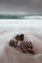 Stormy Skies - Mellon Udrgle (David Kendal) Tags: seascape minimal nd slowshutter incomingtide waterblur swell tse hightide westerross darkskies neutraldensity mellonudrigle watermotion scottishcoast minimalistseascape