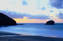 Portreath (Mark Curnow Photography) Tags: longexposure sunset sea beach sand cornwall surf waves kernow portreath gullrock markcurnow
