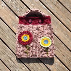 Crochet: Autumn Poppys Handbag (front) (Kiwi Little Things) Tags: handmade crochet purse handbag poppys