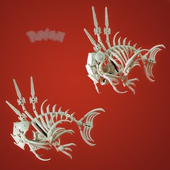 Commission 2/3: Magikarp Skeleton (retinence) Tags: fish skeleton factory lego technic hero pokemon fusion bionicle magikarp