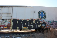 Kose (The Braindead) Tags: art minnesota train bench photography graffiti interesting flickr painted tracks minneapolis twin rail jfk explore most beyond bnsf reefer kyt the braindead cites kose flickrs thebraindead