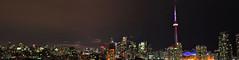 Toronto skyline (jvcaff) Tags: panorama toronto canada skyline night cityscape cntower