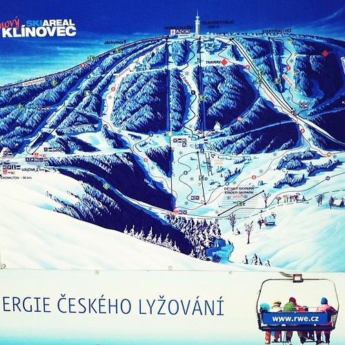 Перепад 270м, длина 1,4км. #iphone #czech #klinovec #alpine #ski #people #nature