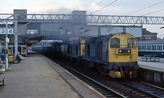 Coal Through Stafford (SydPix) Tags: station diesel trains double header locomotive coal railways freight mgr stafford 20073 20188 class20 sydyoung