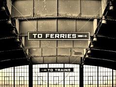 To ferries..... (Liliane77) Tags: rr signage libertystatepark railroadstation toferries