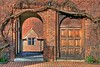 Arch and Door - Abbot's Hospital, Guildford (Keith Burton) Tags: door uk surrey archway guildford hdr brickwork abbotshospital woodendoor