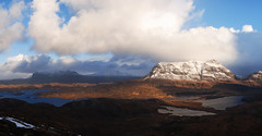 Sulla Via (Wrinzo) Tags: winter sky clouds scotland highlands nuvole cielo inverno stacpollaidh scozia assynt lochassynt