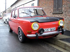 Simca 1000 Rallye 2 rouge (gueguette80) Tags: old red cars rouge autos 1000 classiccars picardie simca anciennes redcars franaises rallye2 gavap sainsenamienois