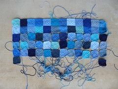I continue work on the blue blanket (crochetbug13) Tags: blue acrylic crochet nanasquare royalsisters