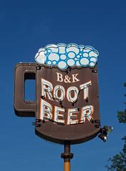 OH Cuyahoga Falls - B & K Root Beer 2 (scottamus) Tags: old ohio sign vintage neon summitcounty cuyahogafalls bkrootbeer