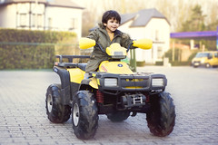 boy baby cute smile toddler driving indian battery handsome quad laugh 2yearsold mixedrace ineedair philippeput filipput