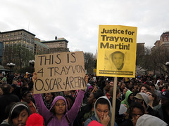 Trayvon Martin Million Hoodie March. NYC, March 21, 2012 (cisc1970) Tags: nyc gothamist humanrights unionsquare racism civilrights racialprofiling stereotyping canonpowershots100 georgezimmerman trayvonmartin shoddypolicework cisc1970