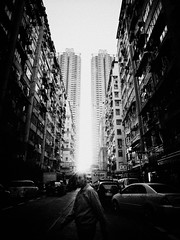 This is city (liver1223) Tags: street city 2 people blackandwhite bw photo interestingness interesting ditch shot snap hong kong explore tai keep gr ricoh tsui kok grd explored