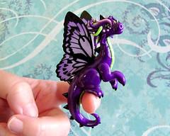 Purple Butterfly Dragon (DragonsAndBeasties) Tags: butterfly dragon purple fairy fantasy