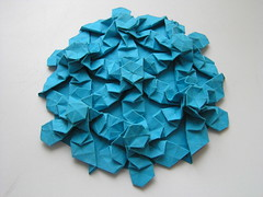 brdparker's crown molecule tessellation (ЗЗ) Tags: art paper origami pattern geometry cp crease tessellation tessellations tesselation paperfolding papiroflexia