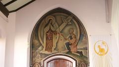 St. Theresa at St. John The Baptist's (jmartyk) Tags: church painting mural catholic christian catholicchurch christianity saintjohnthebaptist johnthebaptist sttheresa portglasgow littleflower sainttheresa stjohnthebaptist thelittleflower