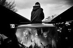 IMGP8055-stavrosstam (stavrosstam) Tags: street people bw car clouds market windscreen