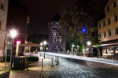 Esslingen - Nacht zum 1. Mai (MarcEhrmann) Tags: auto old city light car long exposure paint time stuttgart kirche stadt blte altstadt esslingen blten fachwerk langzeitbelichtung kastanien schelztor