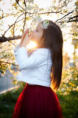 IMG_7148 (D-Ulia) Tags: city flowers sunset sun streets girl smile kids backlight fun spring twilight little blossom bokeh walk backlit walkaround bycicle