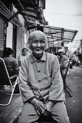 90 years young~ Shanghai (~mimo~) Tags: china old woman beautiful lady asia shanghai streetphotography yuyuan puxi yugardens