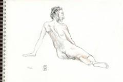 2016 05 13 Homme nu 001 (karl_nemo1954) Tags: man sketch nu crayon homme croquis