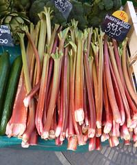 Le Petit chateau - Beautiful fresh rhubarb for sale at the marche (Monceau) Tags: sticks market fresh march rhubarb