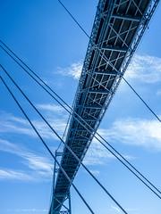 skeleton (JimfromCanada) Tags: bridge sky ontario skeleton design high construction cornwall steel engineering rope structure line beam below tall underneath engineered built girder southchannelbridge