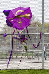 Prince tribute (jer1961) Tags: park toronto umbrella fence purple prince tennis tenniscourt trinitybellwoodspark trinitybellwoods princetribute purpleumbrella