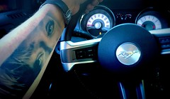 Always with me. (Papa Razzi1) Tags: tattoo arm 7100 may meet 2016 barkarby behindthewheel alwayswithme 128365
