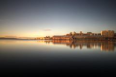 hobart tasmania (mariusz kluzniak) Tags: sky port sunrise reflections dawn bay long exposure tranquility australia clear tasmania hobart