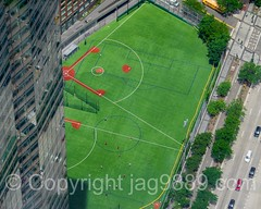 Battery Park City Ball Fields, New York City (jag9889) Tags: park nyc newyorkcity usa ny newyork building green field sport architecture skyscraper football unitedstates fussball outdoor manhattan soccer unitedstatesofamerica worldtradecenter sightseeing aerialview wtc softball groundzero futebol lowermanhattan touristattraction 1776 ftbol calcio weststreet observationdeck nycparks 2016 goldmansachs publicpark futbalo freedomtower seeforever 1wtc oneworldtradecenter newyorkcitydepartmentofparksrecreation 200weststreet jag9889 oneworldobservatory 285fultonstreet 20160601
